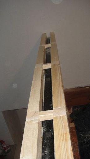 Altes Geländer mit Fermacell-Platten verkleiden