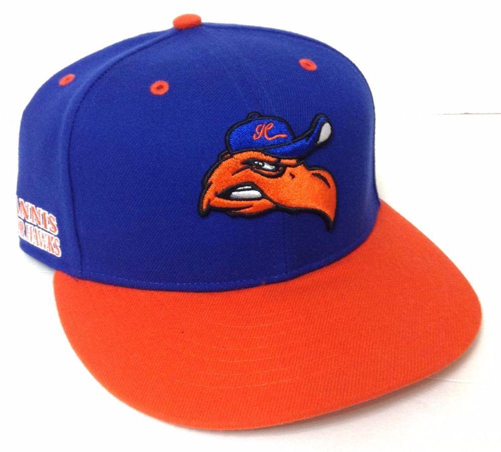 b60cdfa62 Mens Fitted-Size-7-3/8 HYANNIS HARBOR HAWKS HAT Blue&Orange WOOL ...