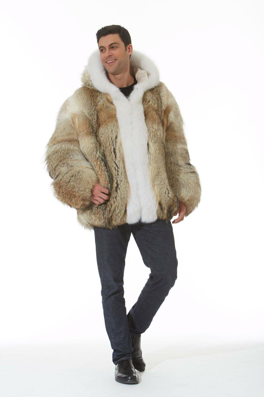 Finden Sie Top Angebote für Herren Kapuzen Coyote Fell Jacke