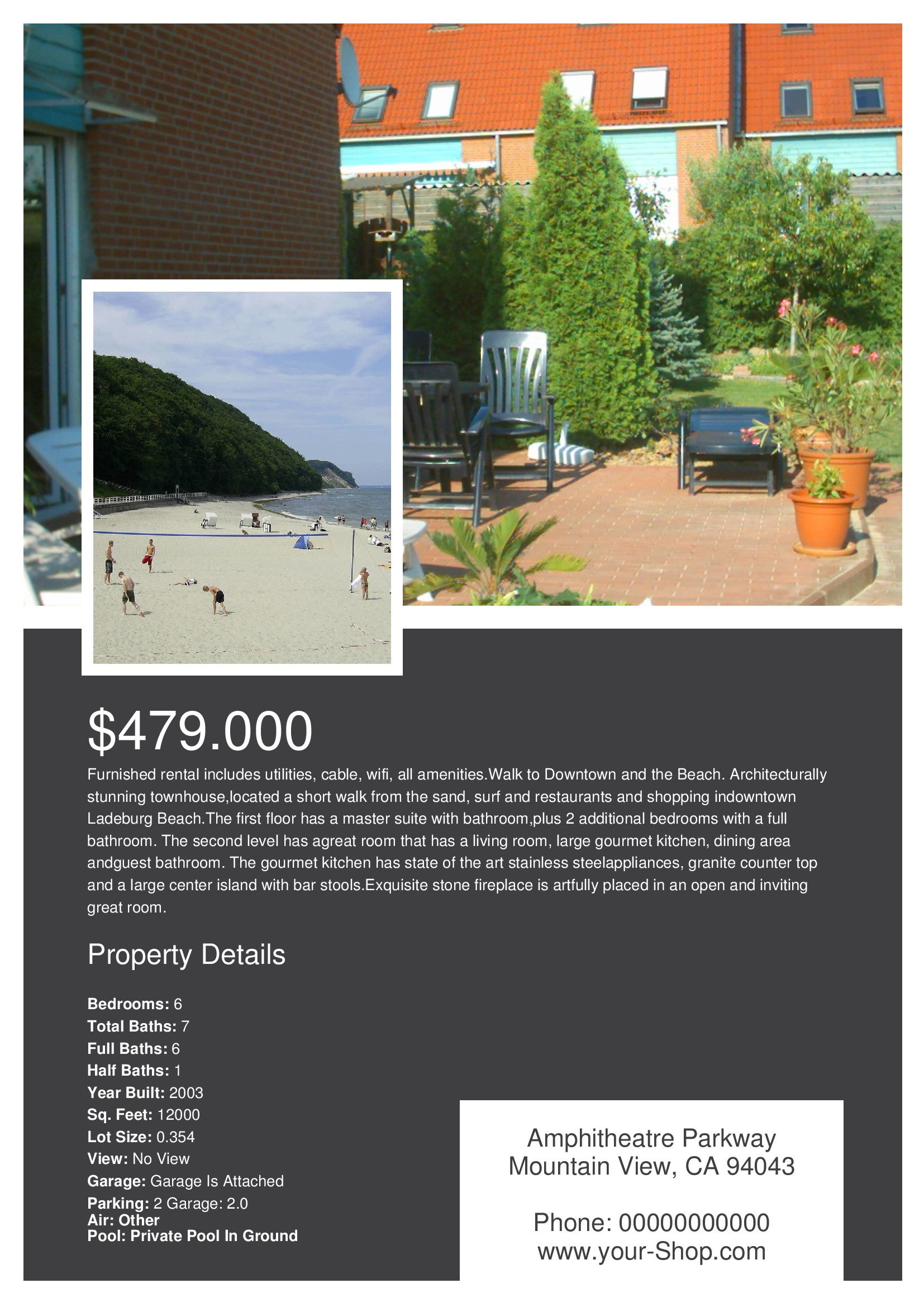 Create a Custom Real Estate Flyer With Our Free Layout template ...