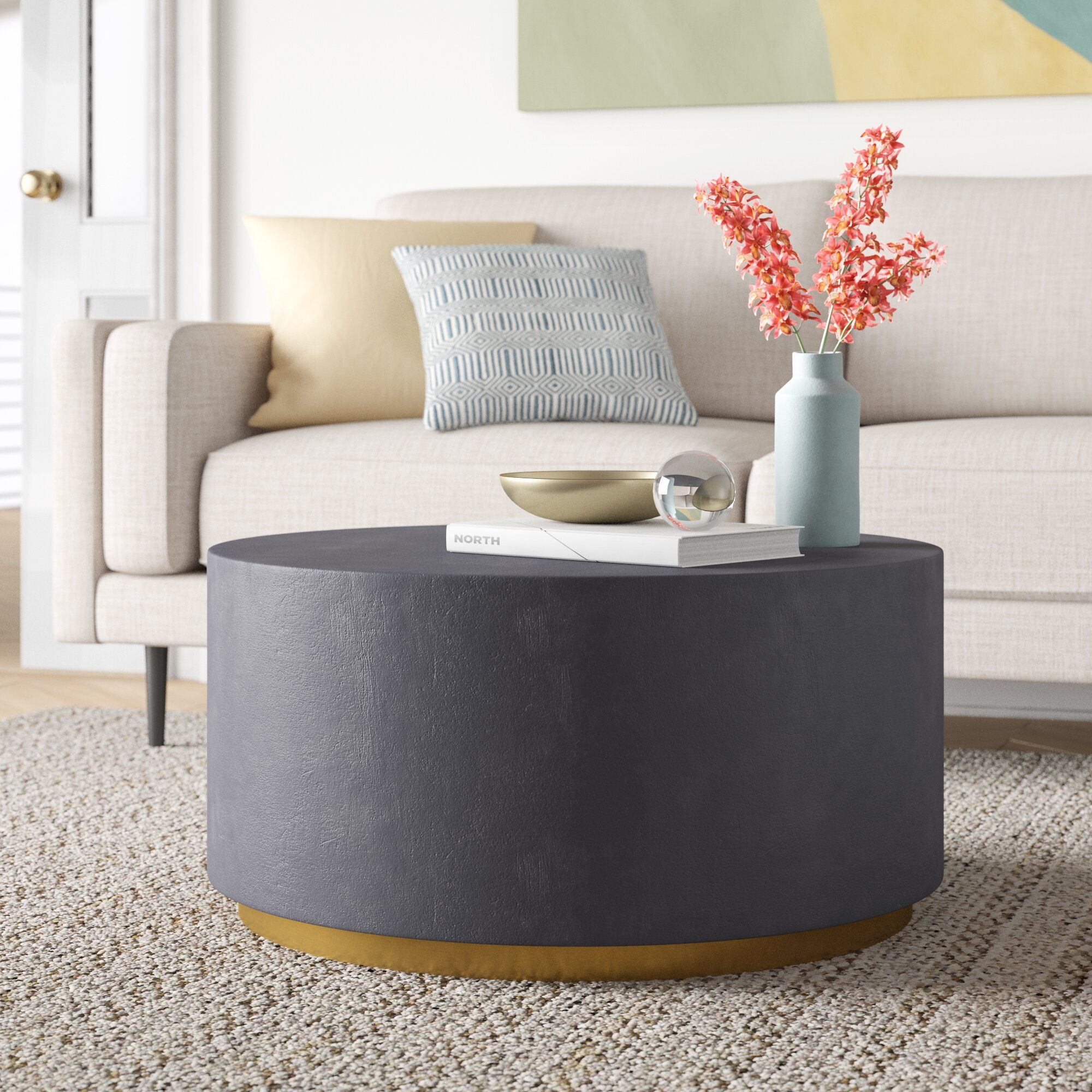 Ailsa Sled Coffee Table In 2021 Drum Coffee Table Coffee Table Coffee Table With Storage [ 2000 x 2000 Pixel ]