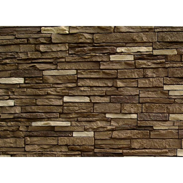 Faux stone siding lowes brunswick brown slatestone for Faux wood siding options
