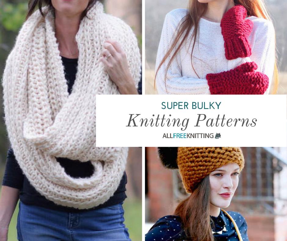 50+ Free Super Bulky Knitting Patterns   Bulky knitting ...