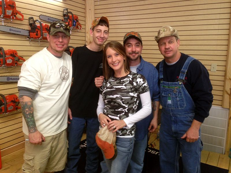 Lyric moonshiner lyrics : Husqvarna employee with 4 cast members of Discovery Channel's ...