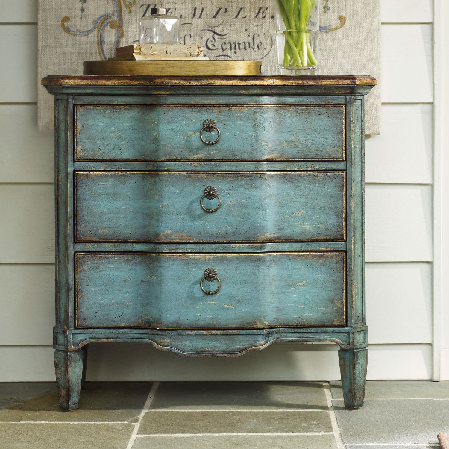 Muebles Vintage Pintados 3 Drawer Chest En 2019 Sil