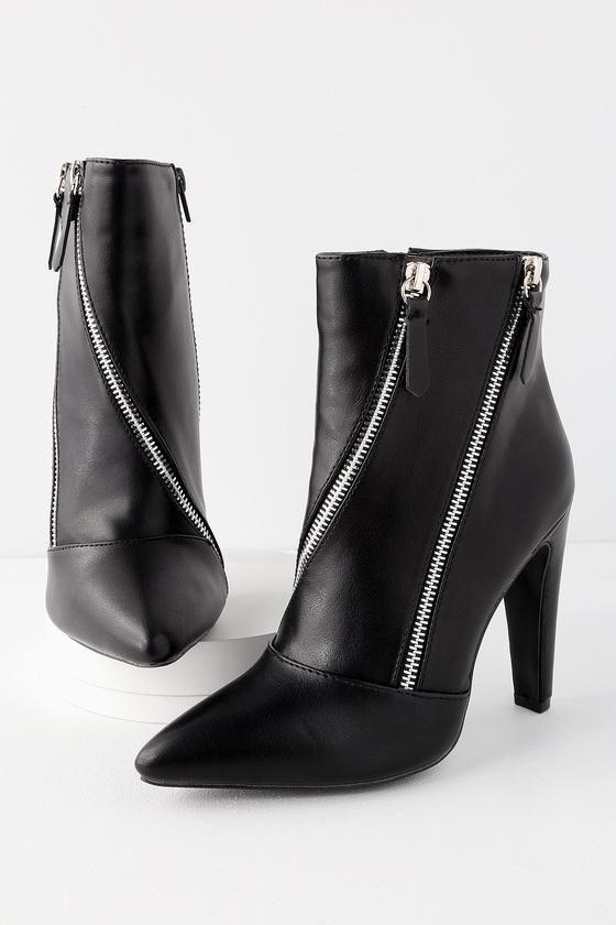 cab439974924  EnvyWe  Lulus -  Lulus Ace Black Zipper High Heel Mid-Calf Booties - Lulus  - EnvyWe.com