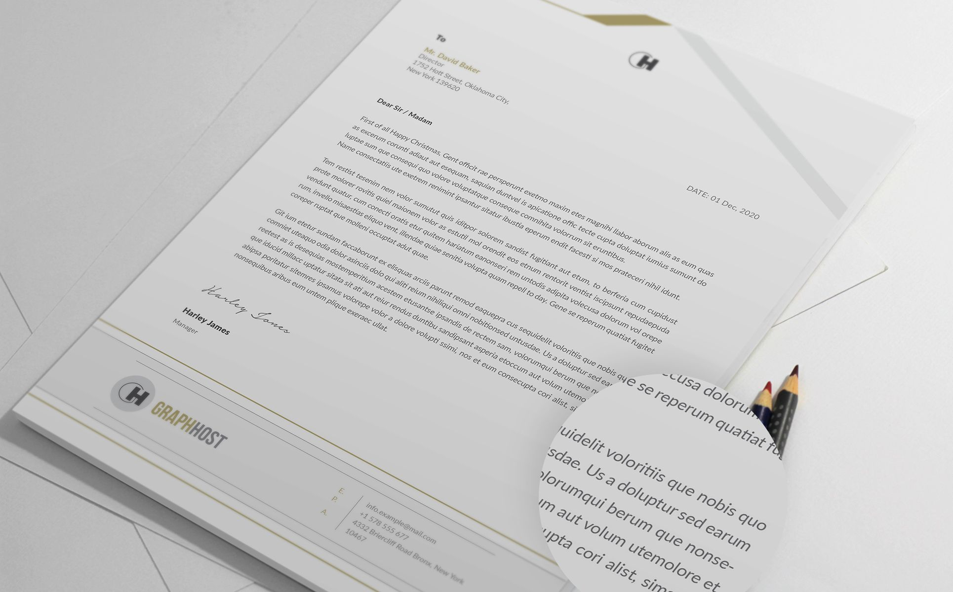 Letterhead Corporate Identity Template 67548 (With