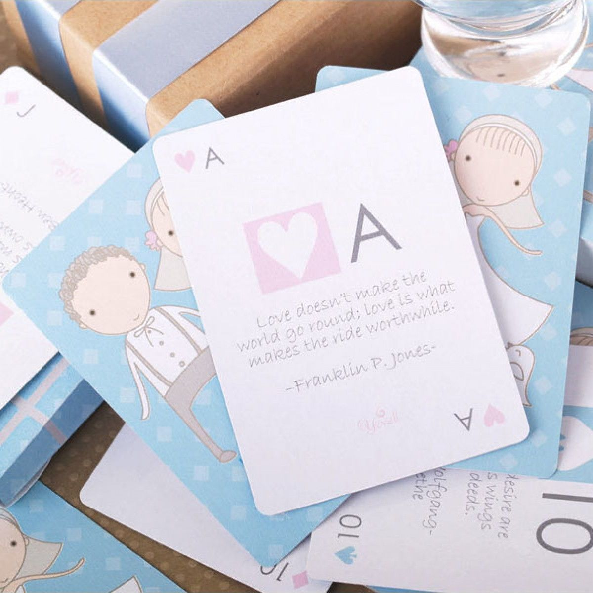 A Love Story Playing Cards Favors | Wedding door gifts | Pinterest ...