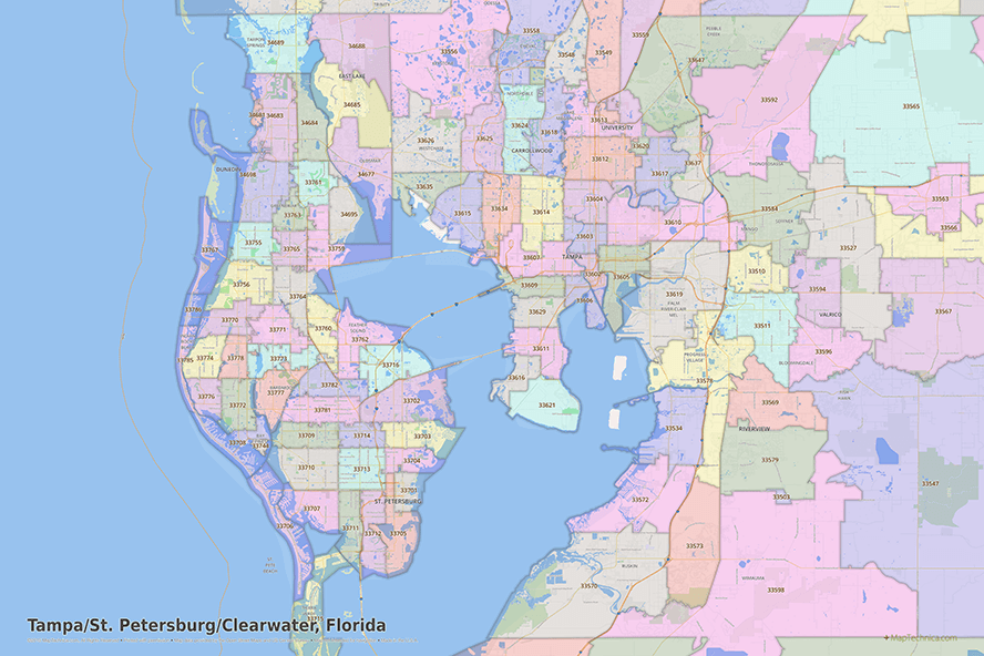 Tampa Florida Zip Codes Map all zip codes in tampa, florida | Coding, Tampa florida, Tampa