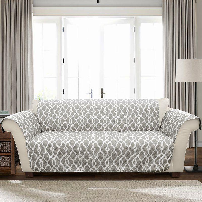 Charlton Home Geo 3 T Cushion Sofa Slipcover Reviews Wayfair Cushions On Sofa Furniture Slipcovers Furniture