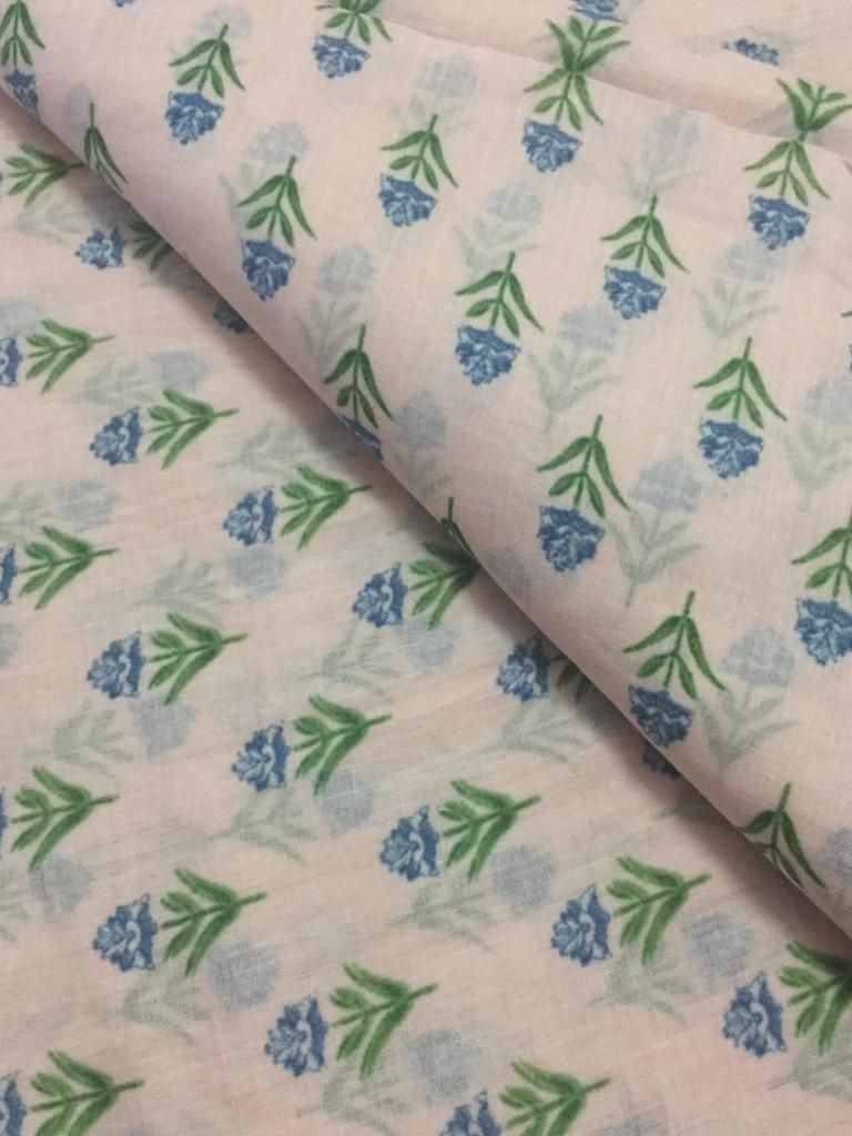 Bird Floral print cotton fabric block print fabric dress Vegetable dyed Indian fabric robe fabric by yard women/'s clothing Running Voile
