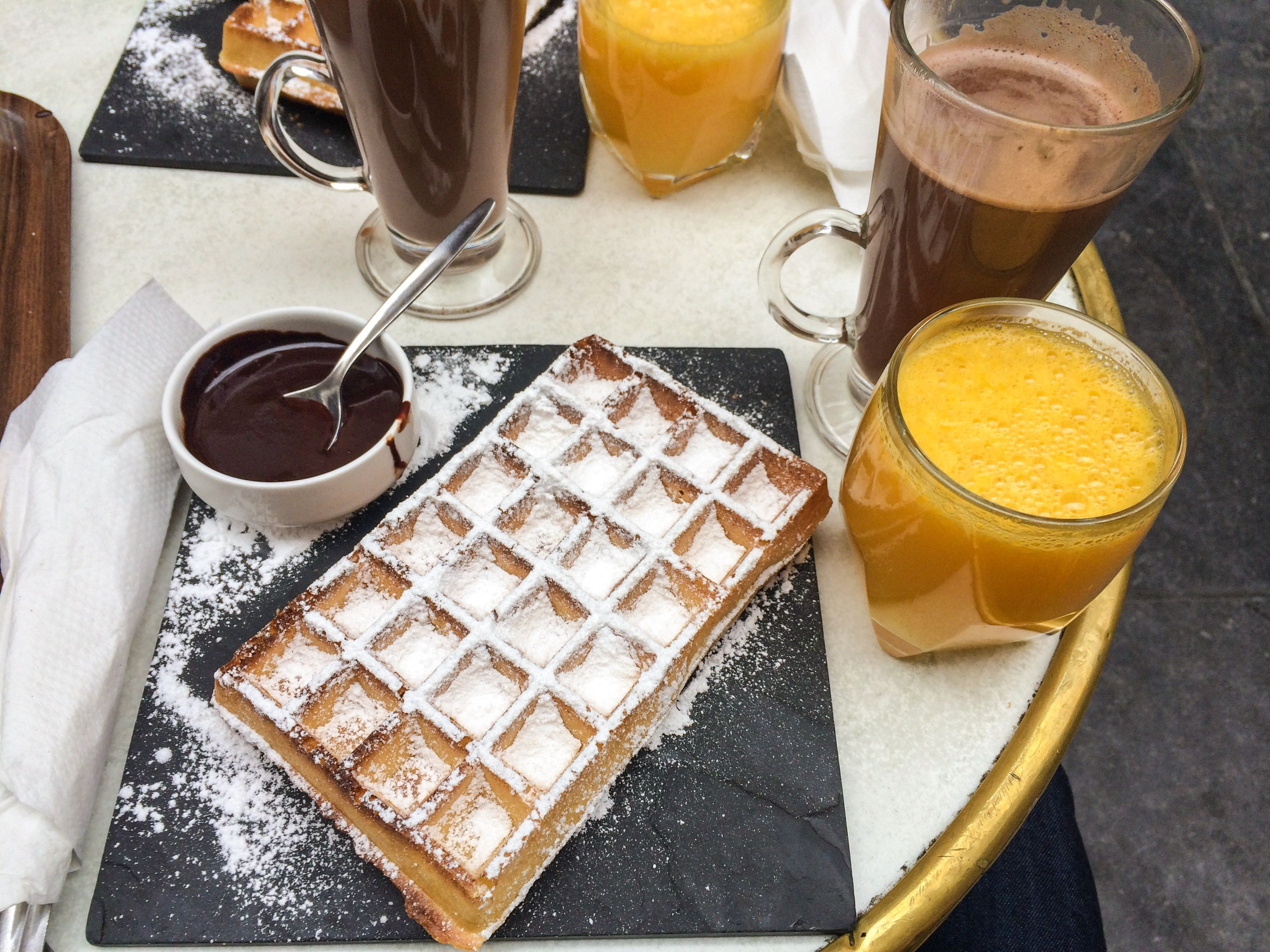 Waffle from Brussels