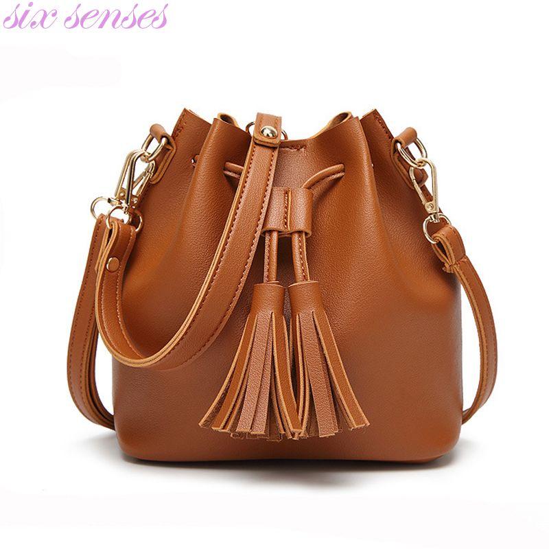 0d7d2cbbb86 Bag · Six senses women bucket bag pu leather Strap Shoulder bag casual  Handbag ...