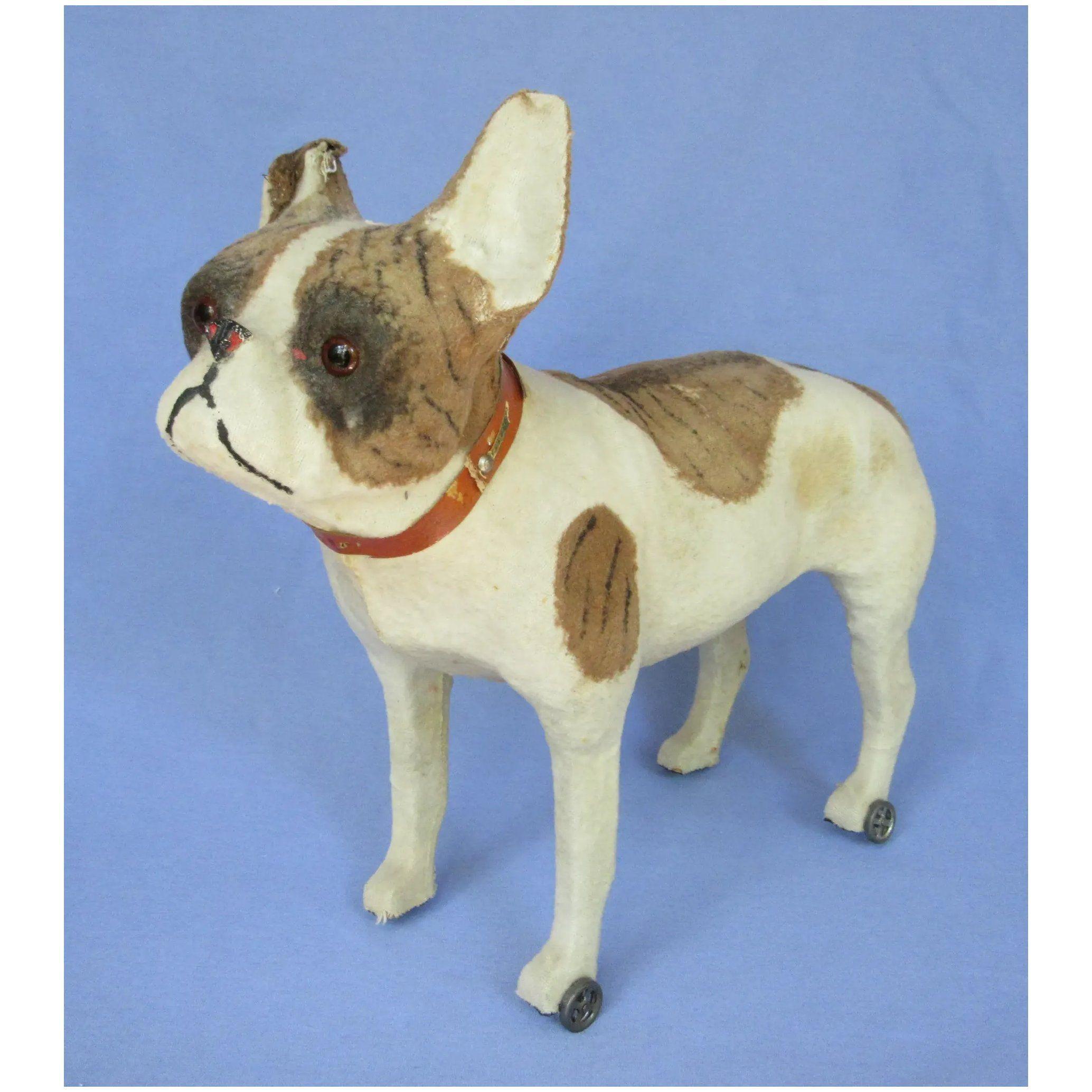 antique 14 French Bulldog pull toy dog Bru Kestner Jumeau