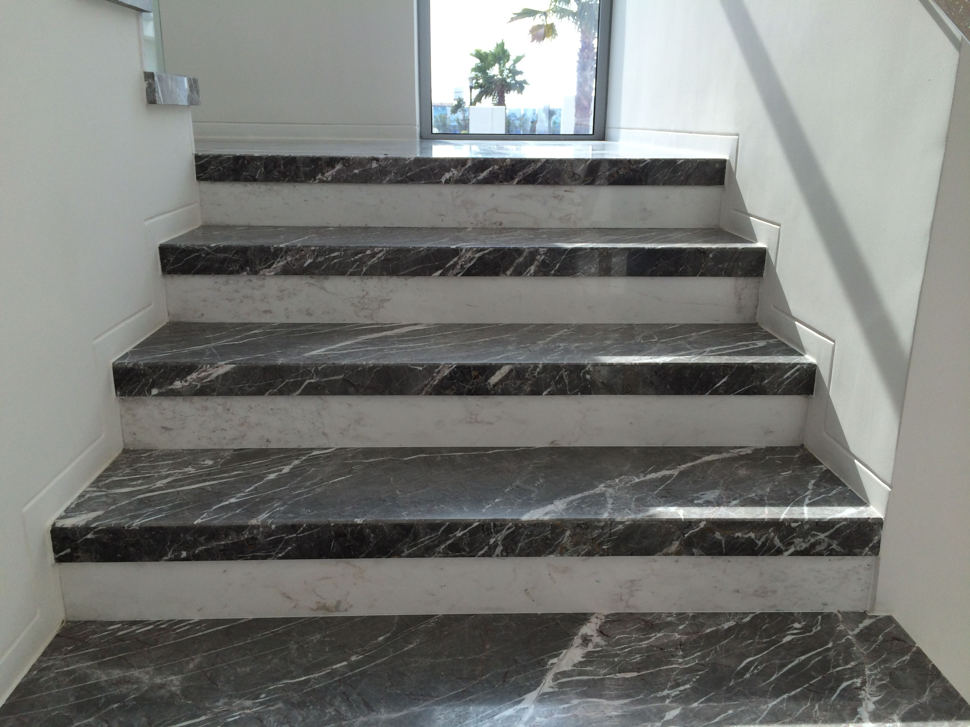 Marble Staircase Using Greek And Turkish Materials Staircase Design Modern Staircase Design Marble Staircase