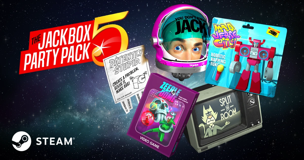 The Jackbox Party Pack 5 (Windows/Mac/Linux Steam Code) in