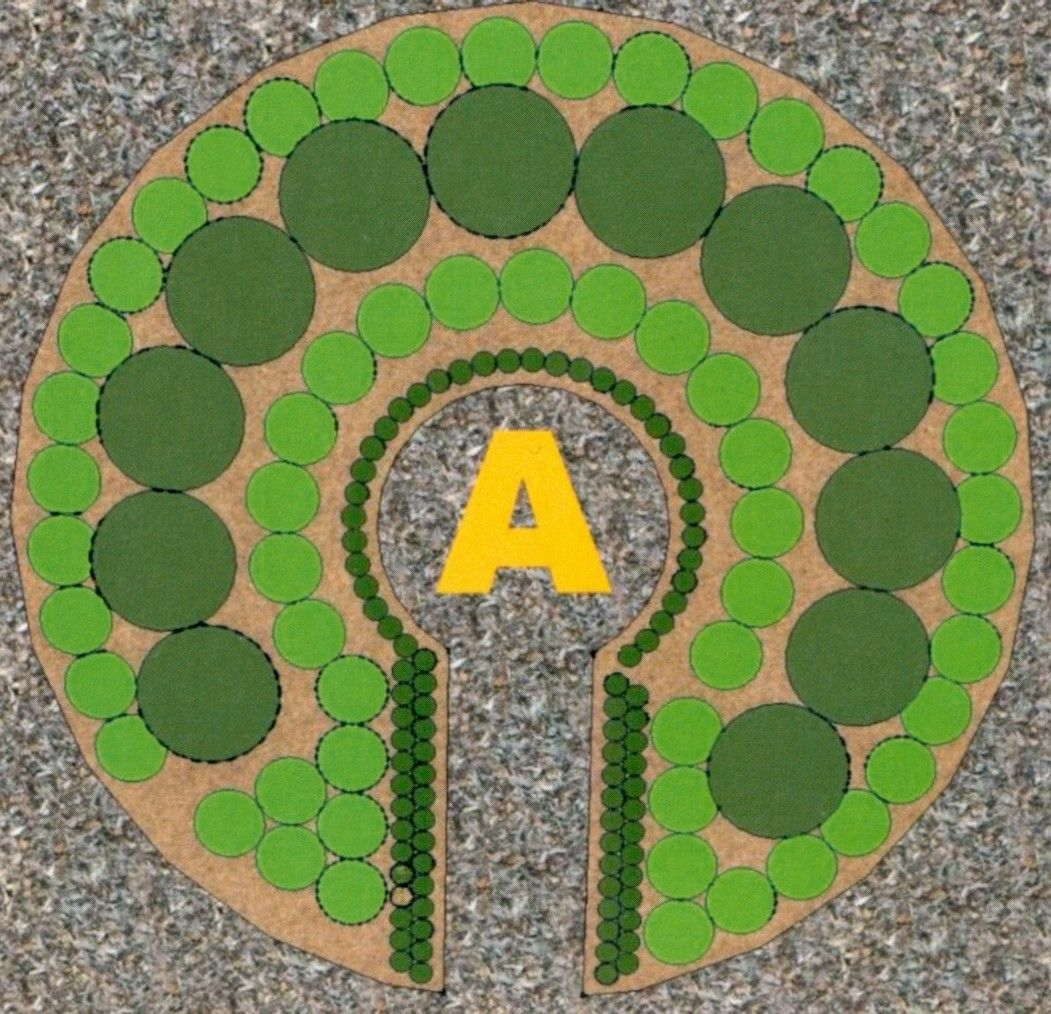 Possible plant layout for a keyhole garden  Keyhole garden