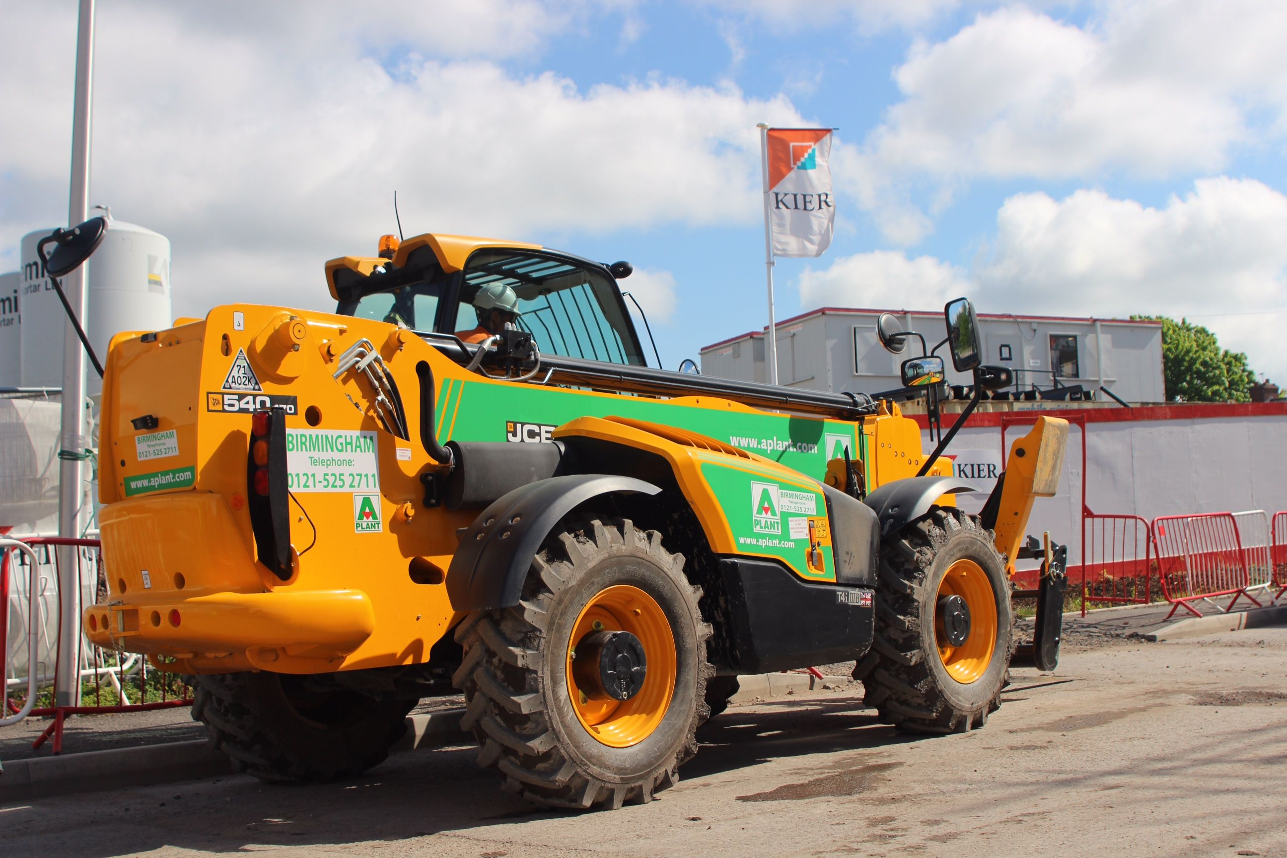 Telehandler Ready For Work On A West Midlands House Building Site