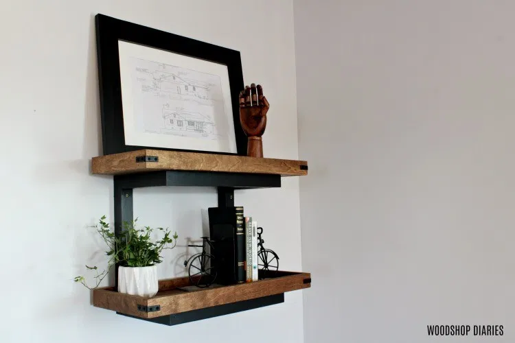 How to Build Floating DIY Wall Shelves WITHOUT Brackets