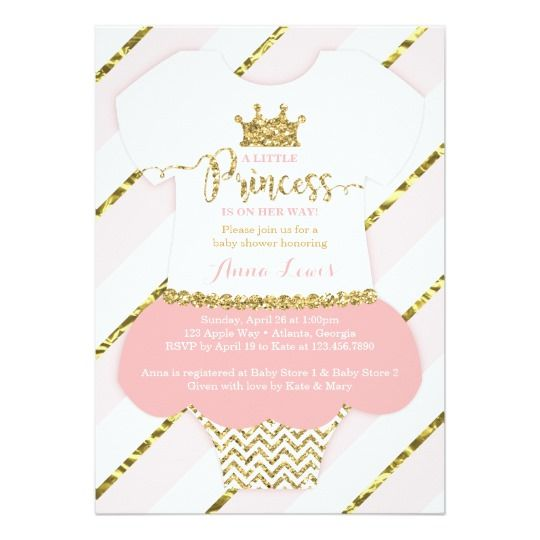 Princess tutu Baby Shower Invitation Features a baby girl - baby shower invitation