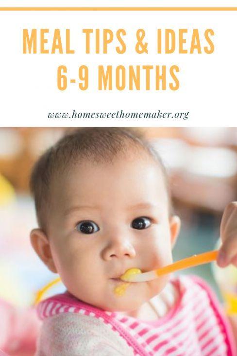 Ernahrungstipps Und Ideen Fur 6 9 Monate Alte Babys Die Mit Festen Nahrungsmitteln Beginnen Alte 7 Monate Baby Baby Monat Fur Monat 9 Monate Altes Baby