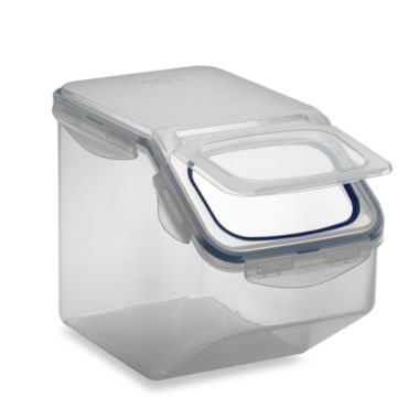 Store N Lock 21 1 Cup Square Food Storage Bin Bedbathandbeyond Com Food Storage Airtight Food Storage Containers Pet Food Storage