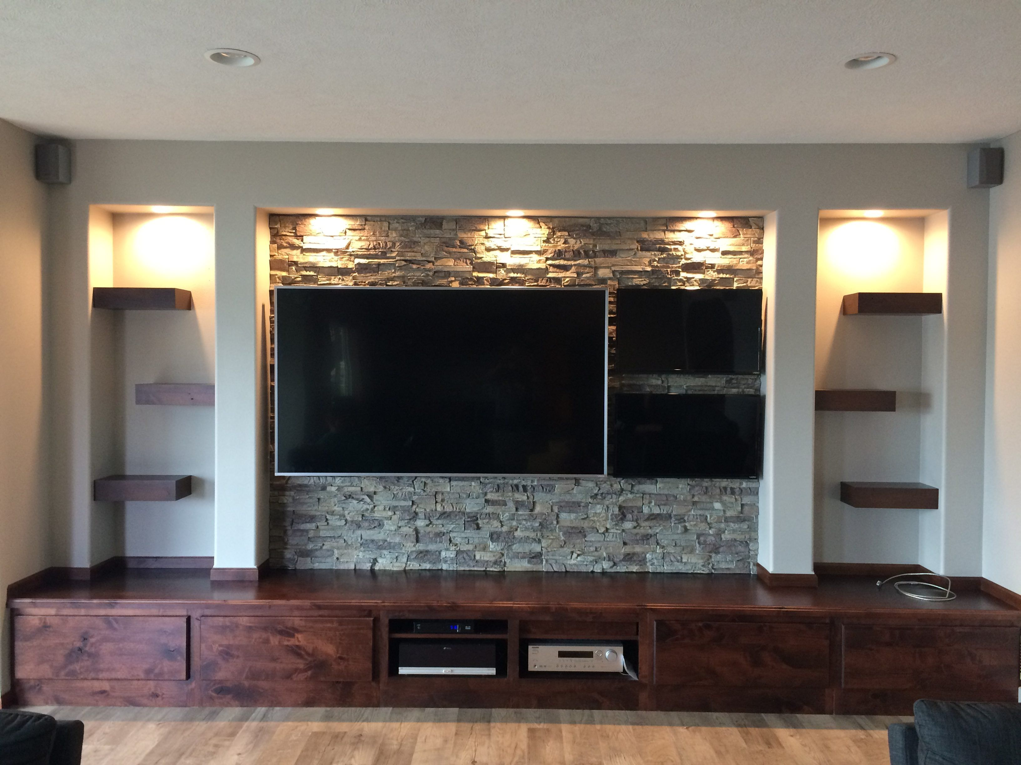 Rustic Man Cave Project With Bar And Media Center Rustic Man
