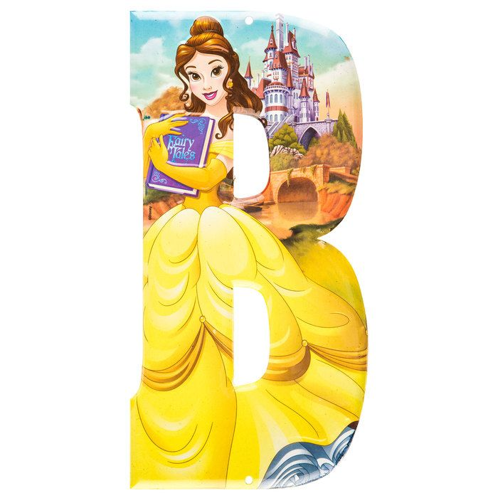 Belle Beauty and the Beast Disney Princess Metal Letter - B⎜Open Road Brands