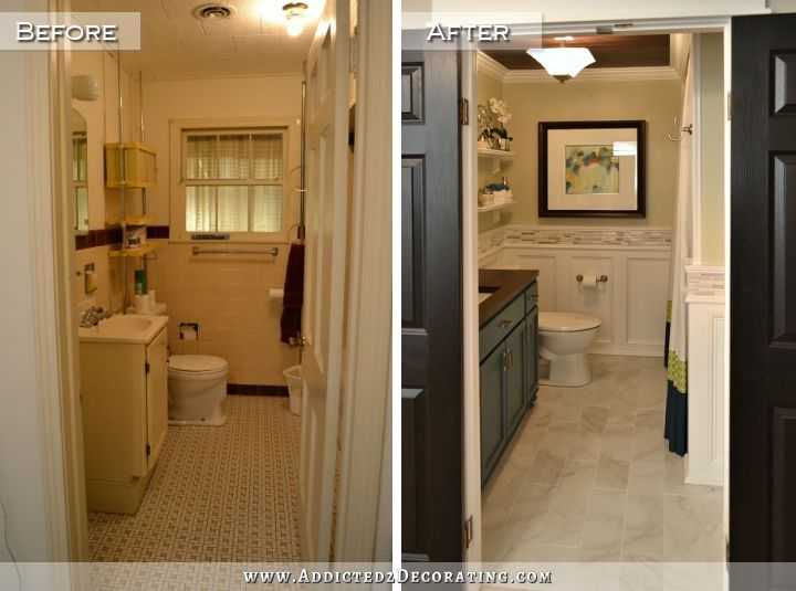 Bathroom Remodel   Before And After   1940s Original Bathroom Before, And  Updated Modern Bathroom