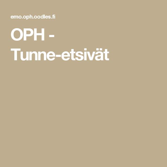 OPH - Tunne-etsivät
