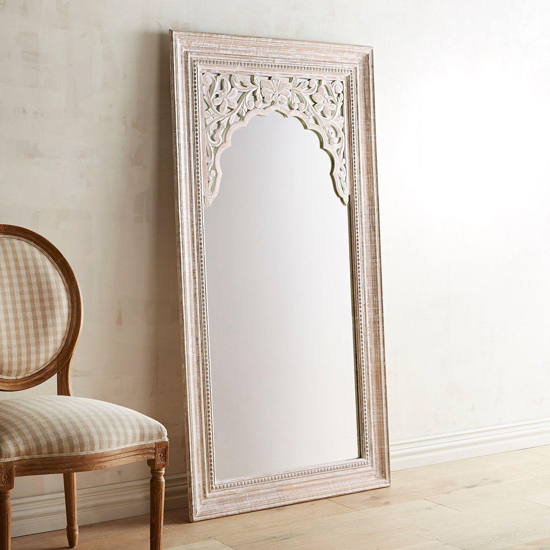 Bohemian Bedroom Carved Floor Mirror  Floor mirror, Mirror decor