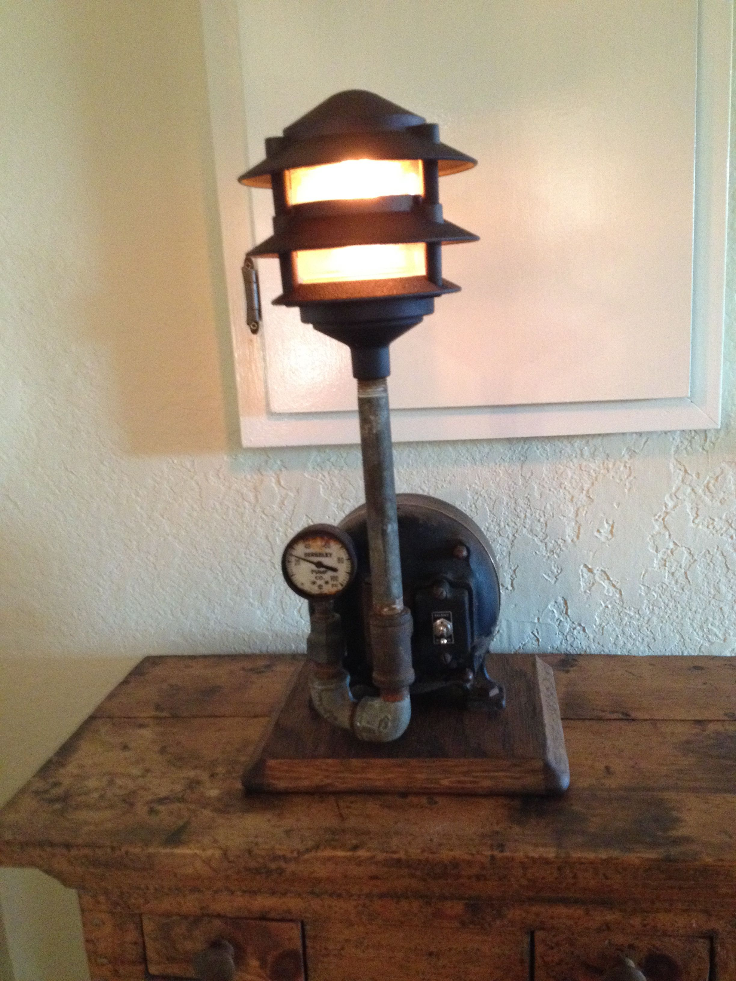 Lamp Made From Old Electric Motor Amp Found Objects Our