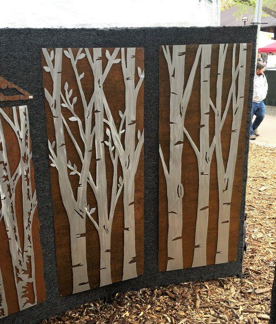 Summer Aspen Tree Wall art. Metal artwork by BearMountainMetalArt ...