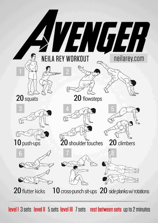 Pop Culture Workout Routines Superhero Workout Celebrity Workout Routine Neila Rey Workout