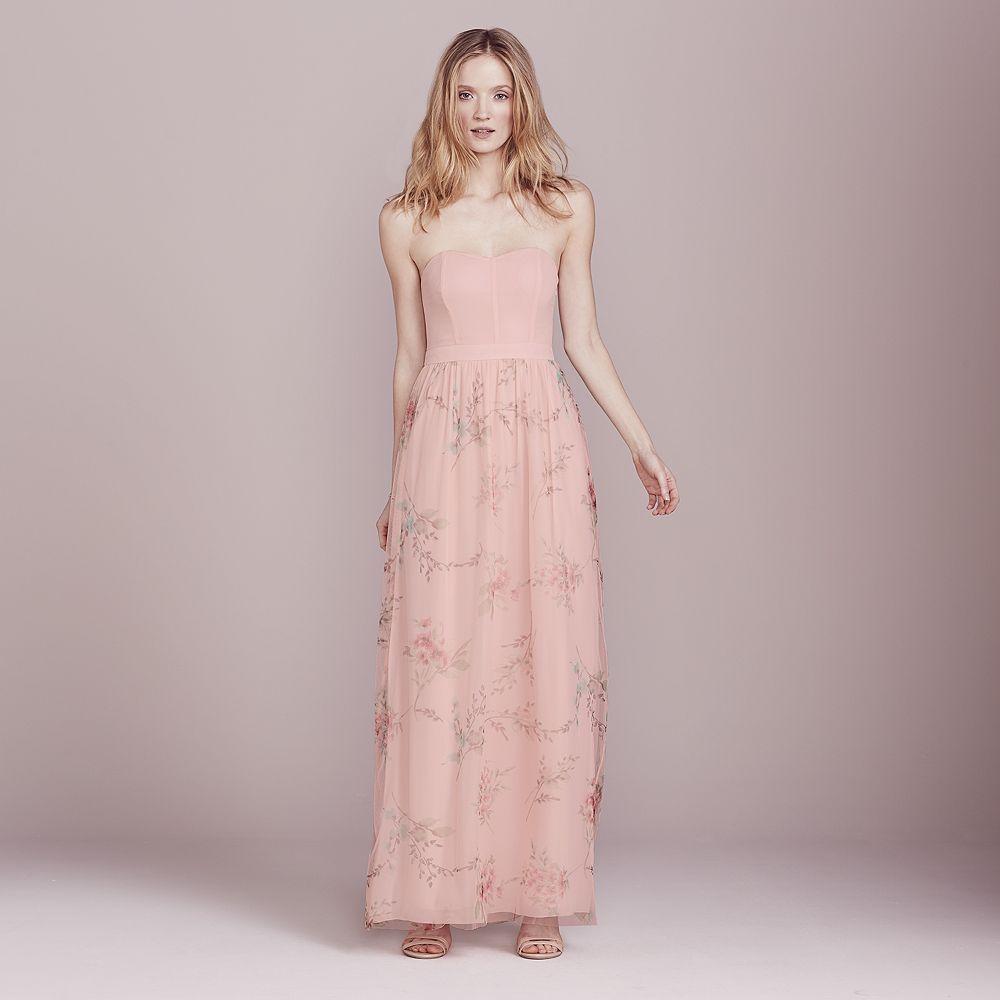 Lauren Conrad Dress Up Shop Collection Floral Strapless Maxi Dress ...