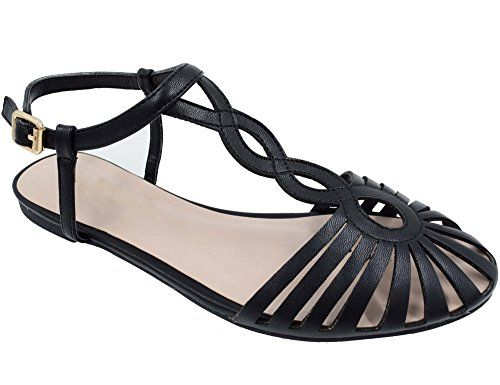9d0c63ec22eb4 MaxMuxun Women Shoes Cut Out Closed Toe Flat Sandals | All shoes and ...