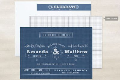 Blueprint visual theme the prince 2014 pinterest wedding blueprint wedding invitations by sarah guse brown malvernweather Choice Image