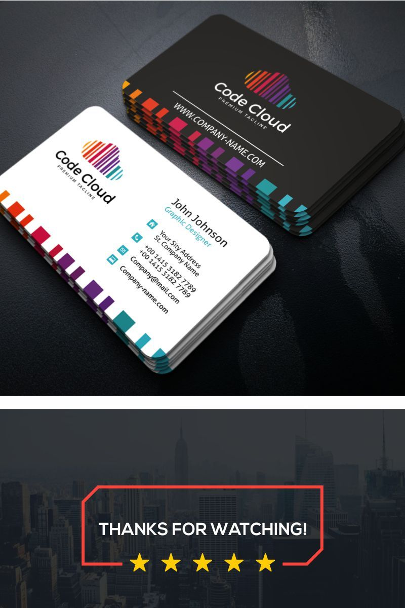 Code Cloud Business Card Corporate Identity Template 69851 Business Cards Corporate Identity Graphic Design Business Card Business Card Design