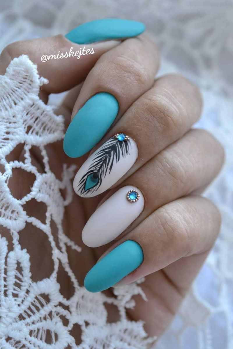 53 Gorgeous Peacock Nail Designs Just For You - ycombe.knee-high-boots-outfit43.ml