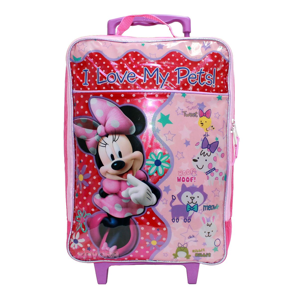 Disney Minnie Mouse Girls Rolling Luggage Suite Case Travel Bag ...