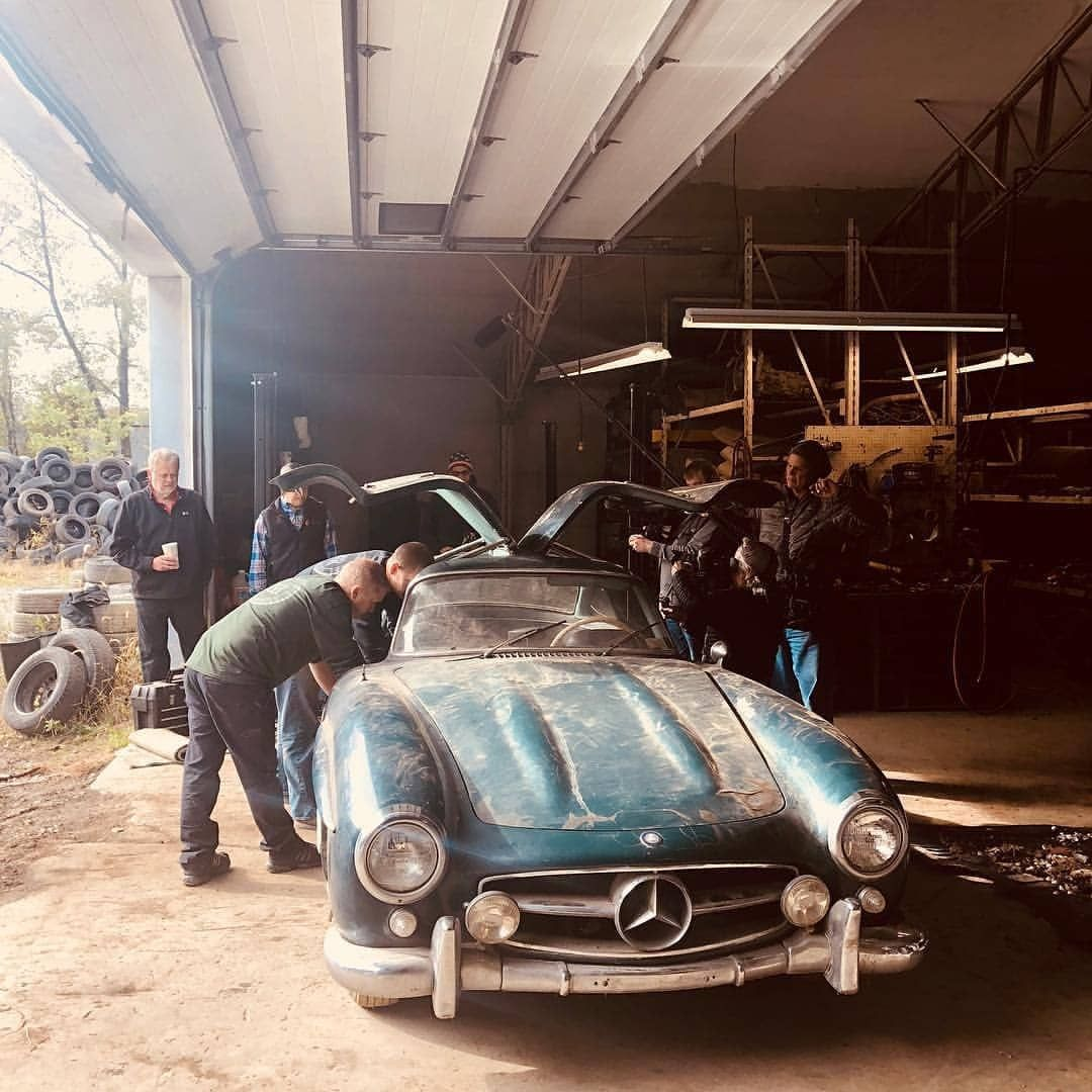 What A Great Barnfind. 1955 300SL Gullwing. Sleeping For