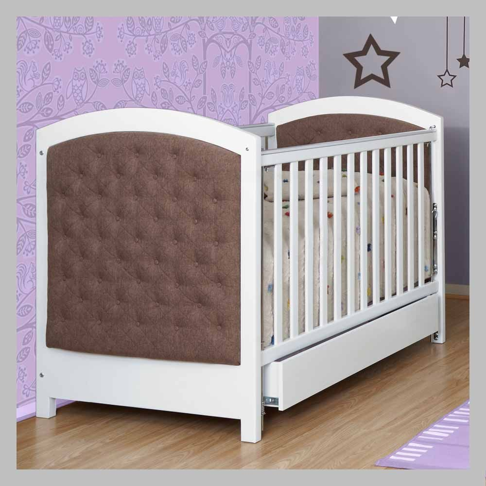 Cama cuna tapizada ccbj 12 cama cuna en madera con color - Cuna cama para nina ...