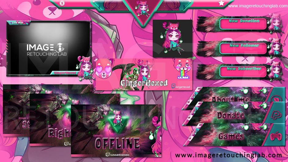 Design your unique twitch overlay stream package