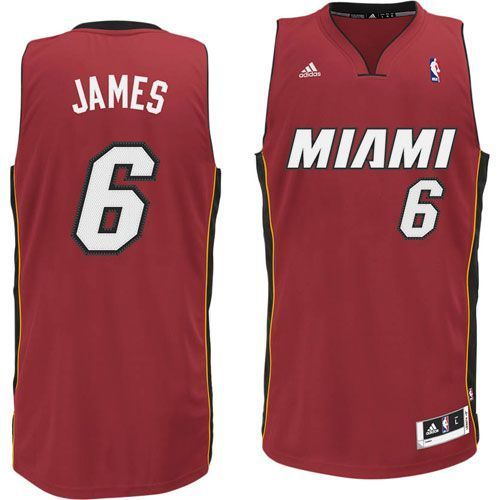 53cf3d873f6 Buy Miami Heat LeBron James Revolution 30 Swingman Red Jersey ...