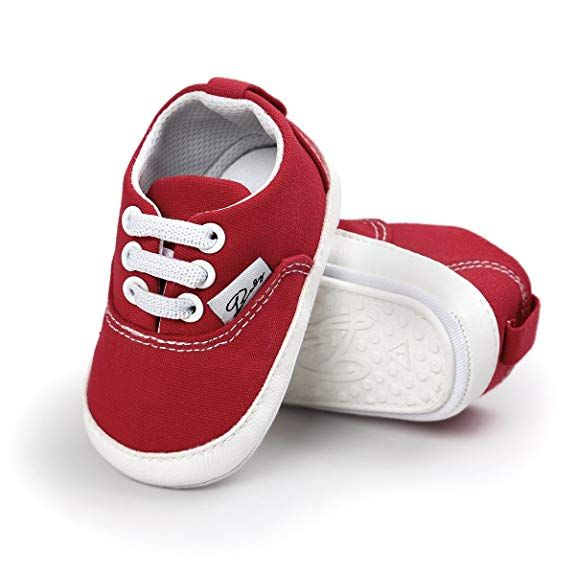 97eab72952a606 BENHERO Baby Boys Girls Canvas Toddler Sneaker Anti-slip First Walkers  Candy Shoes 0-
