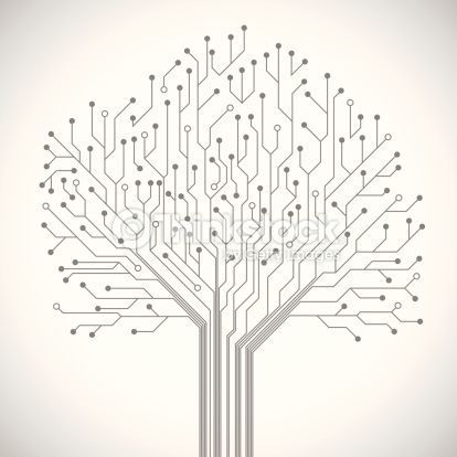 Abstract Computer Technology Integrated Circuit Board Tree Symbol Technology Posters Abstract Circuit Board Design