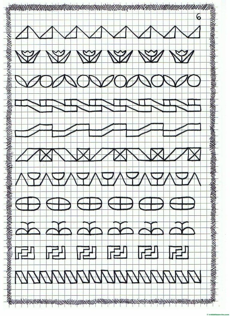 Ficha 6 Dibujos En Cuadricula Grecas Decorativas Imprimir Sobres