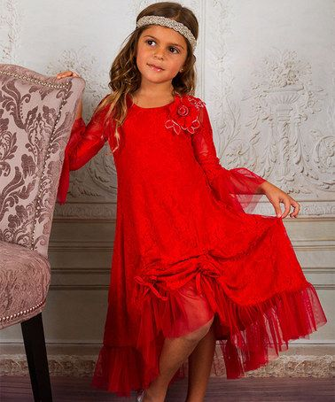 Another great find on #zulily! Red Lace Convertible Dress - Kids & Tween #zulilyfinds