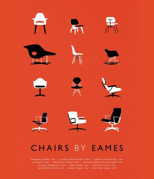 Eames Nesting Chair Poster Print Designer Gifts Furniture Maker Herman Miller