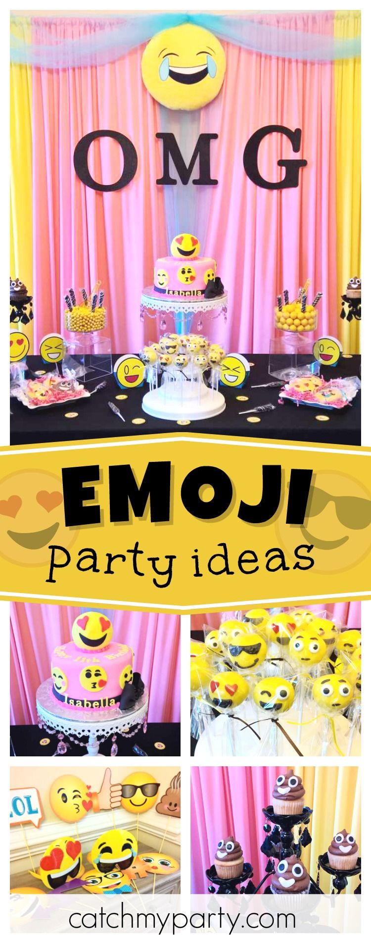 Check Out This Awesome Pre Teen Emoji Birthday Party Love The Cookies See More Ideas And Share Yours At CatchMyParty